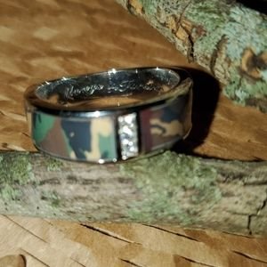 Men's Camo Wedding Band